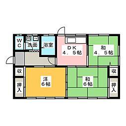 [一戸建] 茨城県水戸市吉沢町 の賃貸【/】の間取り