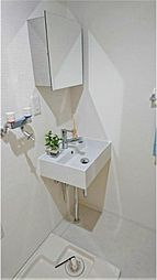 清潔感のある洗面スペースです