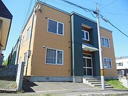 北海道札幌市清田区里塚一条2の賃貸アパートの外観