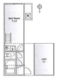 レオパレス旗の台 bt[106kk号室]の間取り