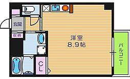 ラシーヌ天王寺[5階]の間取り
