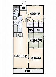 第16柴田マンション[704号室]の間取り