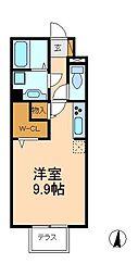 千葉県松戸市三矢小台3丁目の賃貸アパートの間取り