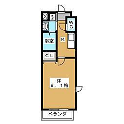 アンリシールI[3階]の間取り
