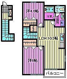 パーシモンA・B[2階]の間取り