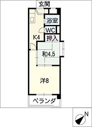 新日豊明マンション[4階]の間取り