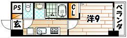 LE GRAND BLEU TROIS(グランブルートロワ)[203号室]の間取り