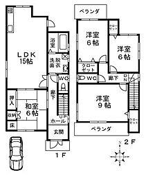 [一戸建] 大阪府堺市中区土師町5丁 の賃貸【/】の間取り