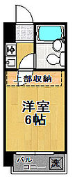 セレストパレ[6階]の間取り