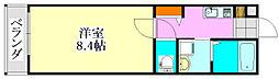 プリズム薬園台[205号室]の間取り