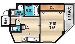 メゾンドアヴェル3[4階]の間取り