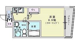 Osaka Metro御堂筋線 江坂駅 徒歩7分の賃貸マンション 7階1Kの間取り