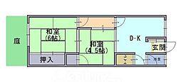 開田マンション[1階]の間取り