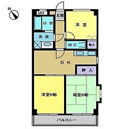 サンホワイト富士見が丘[503号室号室]の間取り