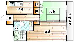 ロードリーR3[5階]の間取り