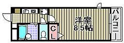 トーシンプリーマ貝塚[204号室]の間取り