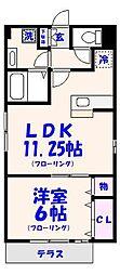 アネックスセキセン弐番館[1階]の間取り