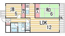 ライブスクエア2B[303号室]の間取り