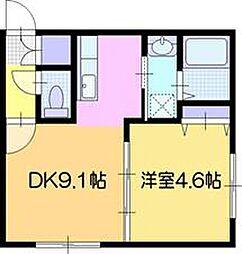 alku(アルク)[105号室]の間取り