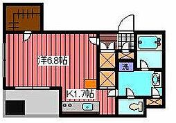 埼玉県川口市栄町3丁目の賃貸マンションの間取り