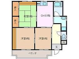 三重県桑名市末広町の賃貸マンションの間取り
