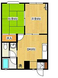 松本ハウス3[105号室]の間取り