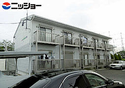 愛知県小牧市藤島町鏡池の賃貸アパートの外観
