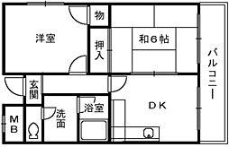 レグルス深井[3階]の間取り