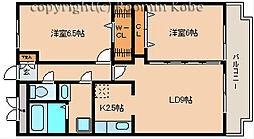 兵庫県明石市太寺2丁目の賃貸マンションの間取り