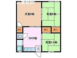 末広荘[2階]の間取り