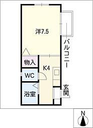 カーサ松原[2階]の間取り