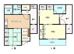 [一戸建] 広島県三原市本町1丁目 の賃貸【/】の間取り
