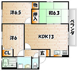 セーズ・プルミエ A棟[2階]の間取り