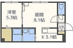 北海道札幌市東区北三十六条東15丁目の賃貸マンションの間取り