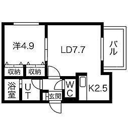 MANZANA琴似[3階]の間取り