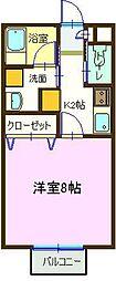 ルミナス祇園I[202号室]の間取り