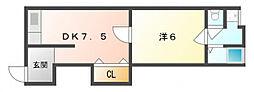ソレイユ八雲[2階]の間取り
