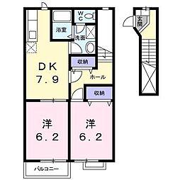 クラベールハウス[2階]の間取り