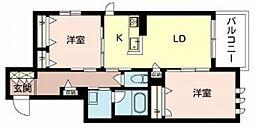 住道矢田1丁目計画 3階2LDKの間取り
