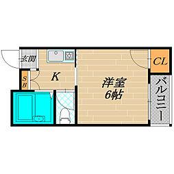 ウィンライフ関目[2階]の間取り