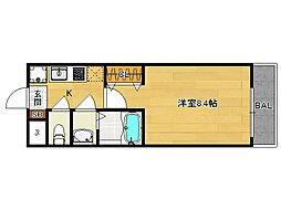 プリモベント円町[106号室]の間取り