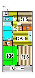 ビューハイツ浦和[3階]の間取り