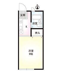 ジュネス上倉田[1階]の間取り