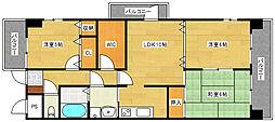 スクエア33[2階]の間取り