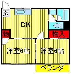 フジハイツI[105号室]の間取り