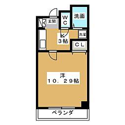珠光ビル松原[4階]の間取り
