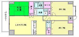 パロス美野島[12階]の間取り
