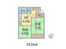 埼玉県三郷市三郷の賃貸アパートの間取り