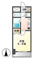 プレサンス大須観音駅前サクシード[4階]の間取り