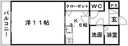 静岡県浜松市南区渡瀬町の賃貸マンションの間取り